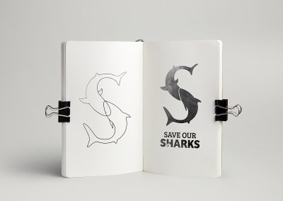 Save Our Sharks logo concept