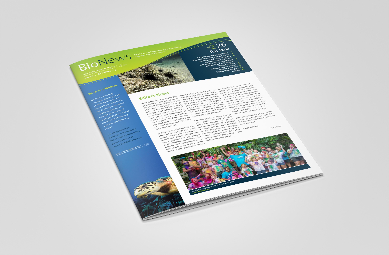 BioNews newsletter cover design